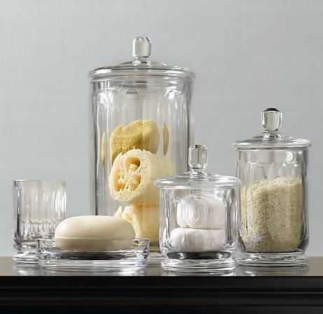 Elegant Gl Bathroom Jars Canisters Techieblogie Info