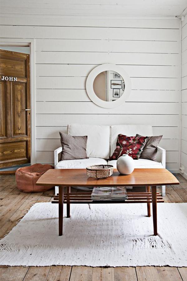 White plank walls